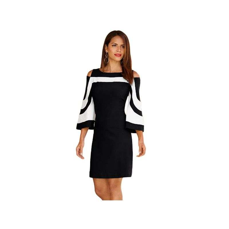 500a7caa7 Vestido color-block