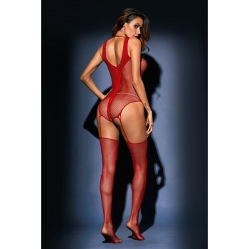 Bodystocking sexy, medias de cuerpo entero de red.