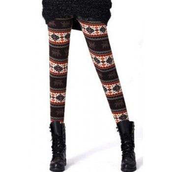 Leggings de invierno con estampados marrones